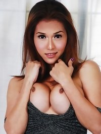 busty asian shemale Sapphire Young with tense dark nipples